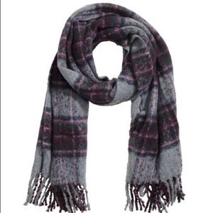 H&M Multi-coloured Large Woven Scarf with Fringe